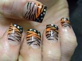 Tiger Polka Stripes