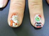 Santa and Grinch