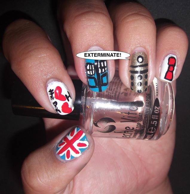 Nail Art Gallery nerd nails geek nails Nail Art Photos