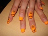 neon orange gel