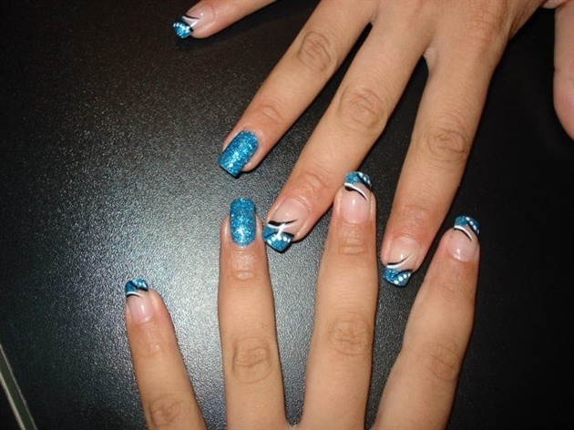 blue glitter powder