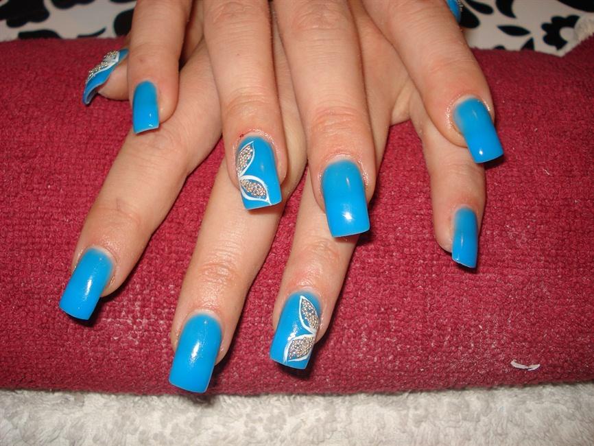 neon blue gel - Nail Art Gallery