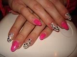pink gel animal print