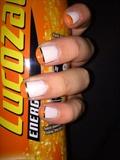 Orange & White Silver Lining Mani