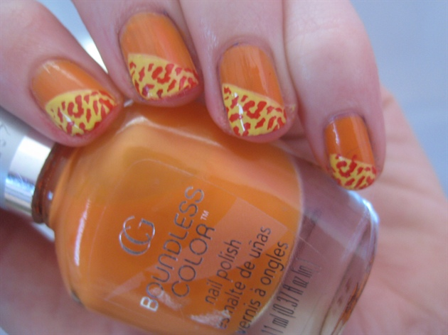 Orange and yellow Leopard Print