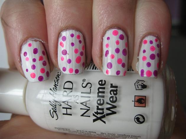 Pink and purple polka dots