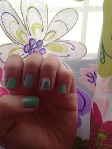 Firework nails with matte half !! 👏🏻