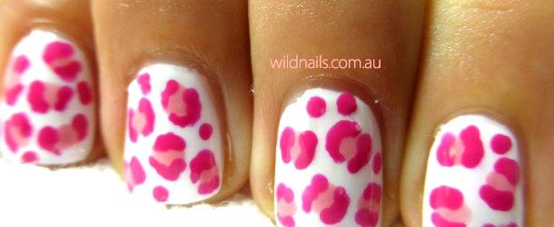 Pink Cheetah Nails