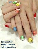 Rainbow Converse on Hand