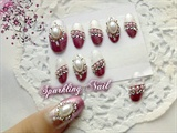 Pink Elegant Wedding Nail