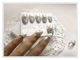 Elegant Silver Wedding Nail