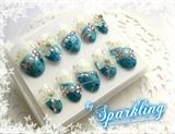 Blue Lace Bridal Nail