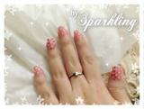 Pink Floral Nail
