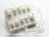 White Floral Bridal Nail