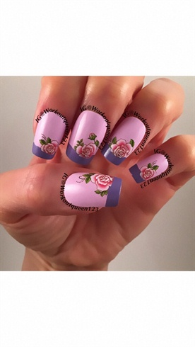 Rose french mani