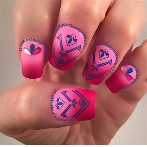 Gradient Red And Pink With Arrows