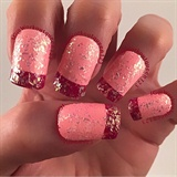 French tips with Flakes
