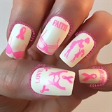 Nail art gallery breast cancer awareness nail art photos breast cancer think pink prinsesfo Images