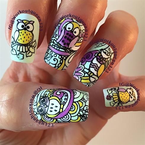 Owl mani