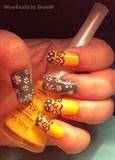 Konad ping pong floral nail art