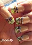 Tribal french nail art