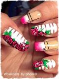 Diary of roses nail art