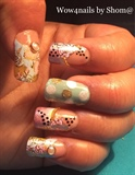 Pastles & Flowers nail art