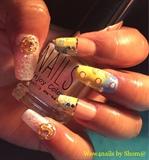 Summery Floral Nail art