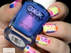 Neon Color Blocked Nails