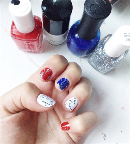 Fourth Of July 2017 Nails!❤️💙