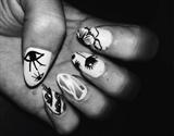 Natural Color Stamped Nails!