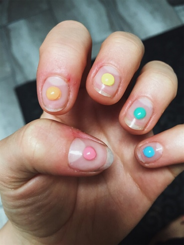 3D Rainbow Dots (gel)