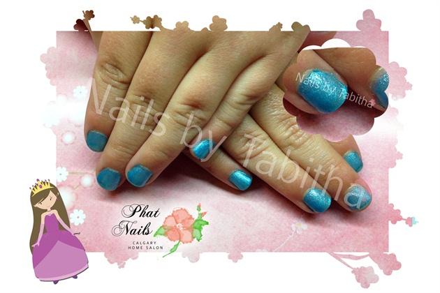Blue Princess Nails