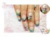 Spring Pink Flower Nails