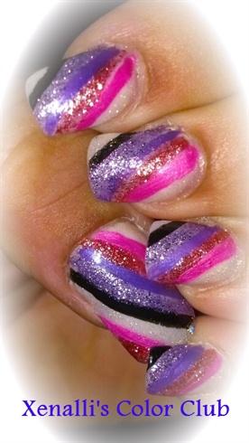 sparkly stripes