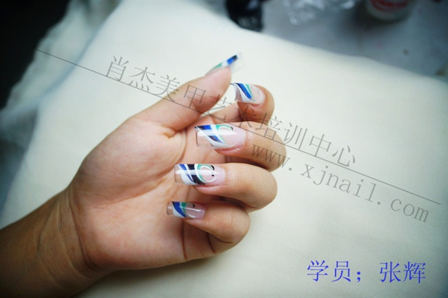 Nail art students phototherapy and works