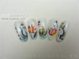 Nail glue art design