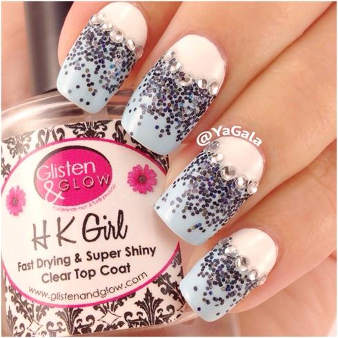Half-moon Glitter Gradient