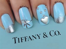 nail art: Tiffany Inspired Nails