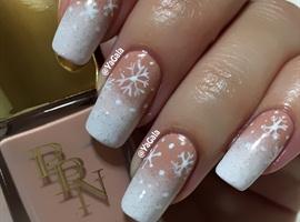 nail art: Snow