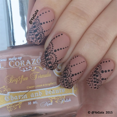 Freehand Lace Nail Design - Freehand Lace Nail Design - Nail Art Gallery
