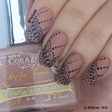 Freehand Lace Nail Design