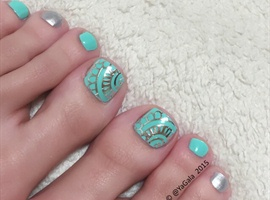 nail art: New Pedi 👣