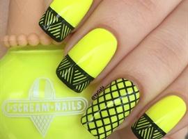nail art: Bright Neon 💛
