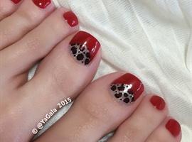 nail art: 👣Pedi Time👣