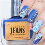 Jeans Nail Art
