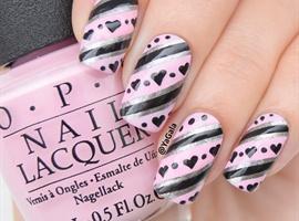 nail art: Hearts