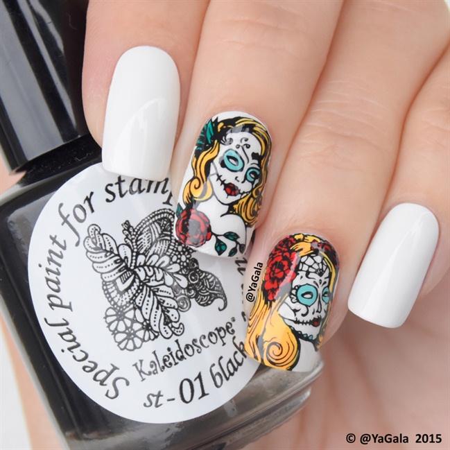 Sugar skull nail art gallery prinsesfo Image collections