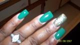 green gold glitter