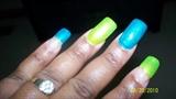 lime blue glitter